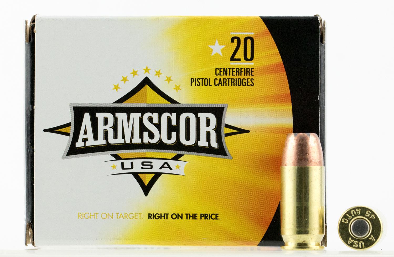 Winchester Service Grade 45 Ammo FMJ 50 Rounds  45 ACP Mfr SG45W