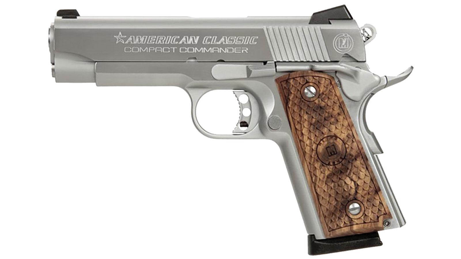 1911 Bobcut  45 ACP 4 25 8 Round Black / Hardwood Metro Arms Co