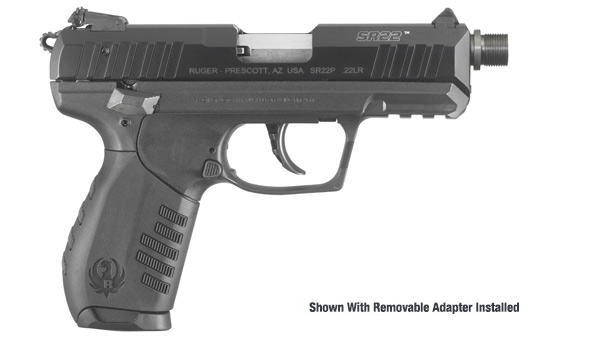 RUGER SR22 PISTOL WITH THREADED BARREL