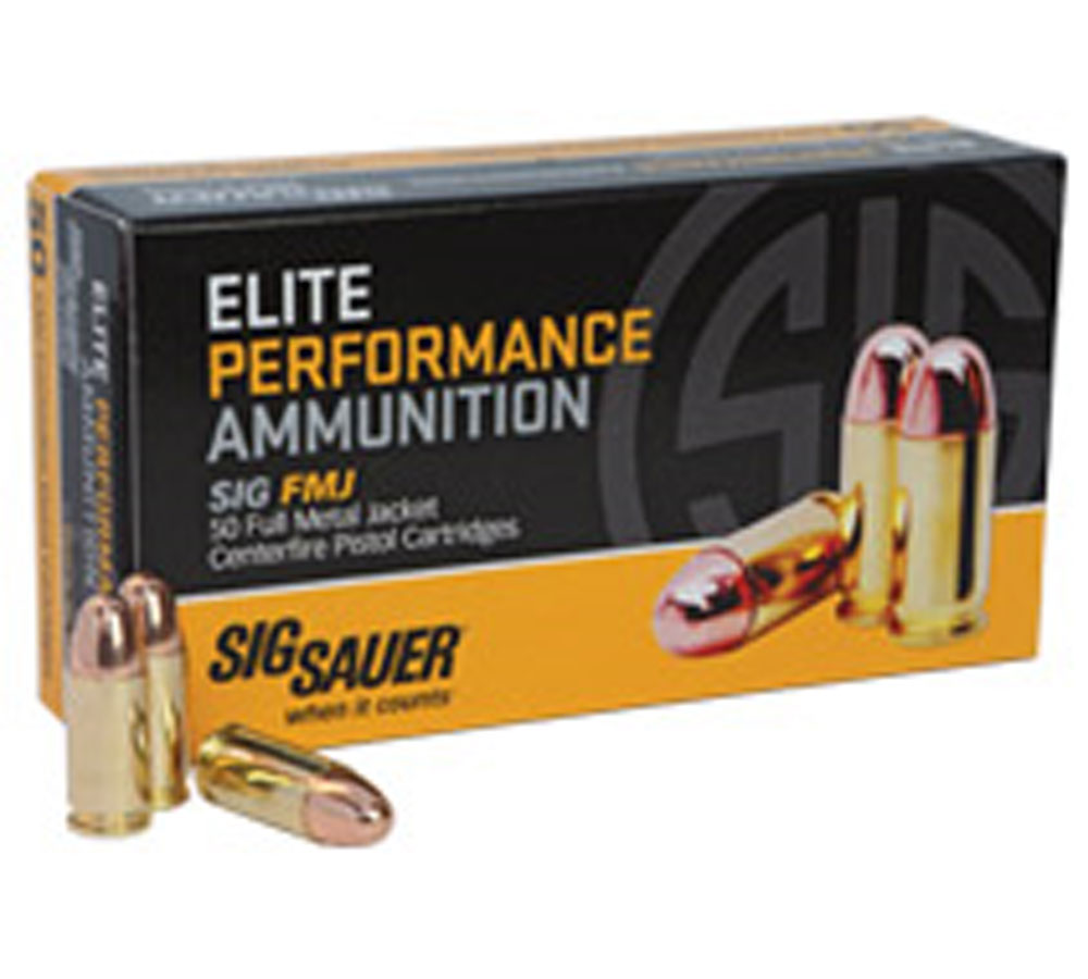 Sig Elite Ammo 9mm box