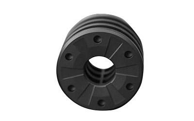 3-Lug Muzzle Device Adapter 9mm Matte Black Silencerco AC2607